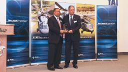 Sikorsky's 2012 Global Supplier Award to TAI