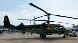 Russian Ka-52 Alligator Combat Helicopter Creates a Sensation at Le Bourget