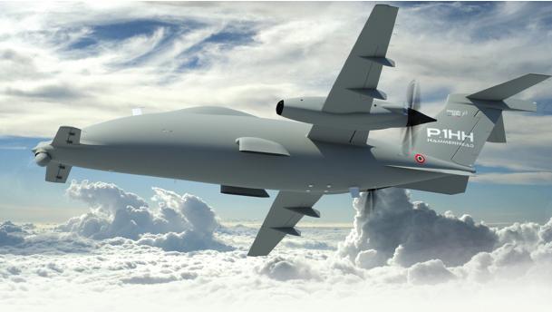 "Piaggio Aero Industries Unveils at the 2013 Paris Air Show the P.1hh ""Hammerhead"""