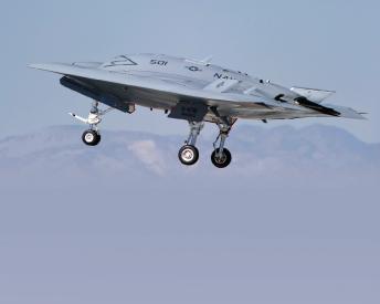 Northrop Grumman, U.S. Navy Complete First Arrested Landing of a Tailless Unmanned Aircraft Aboard an Aircraft Carrier