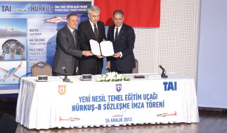 Hürkuş-B Serial Production Agreement Signed by TAI and SSM