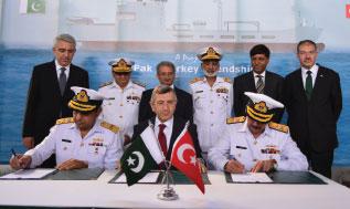 Steel Cutting Ceremony for Pakistan's Fleet Replenishment Vessel