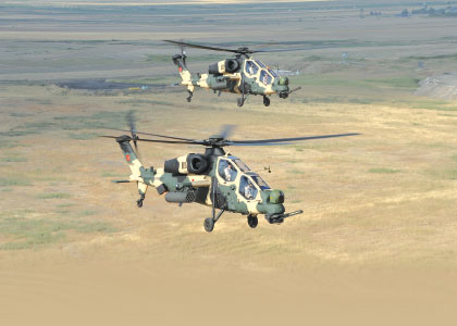 """First T-129 """"Atak"""" Helicopter Delivered to Turkish Land Forces Command"""
