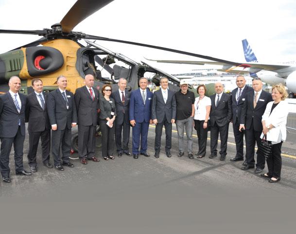 Agenda in Mind, Turkish Delegation Attends the Farnborough Air show