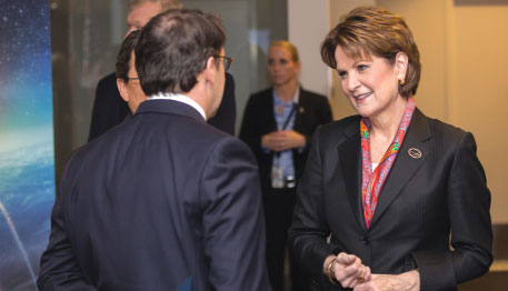 Lockheed Martin CEO Marillyn Hewson Discusses Growth Strategy at Annual Media Day