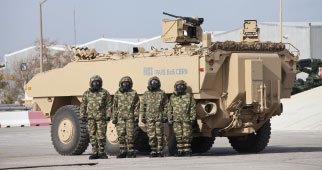 FNSS Debut Pars 6x6 CBRN Vehicle and 'SABER' One-Man Turret in IDEX