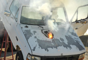 Lockheed Martin Laser Weapon System Stops Truck in Field Test