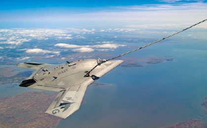 X-47B Unmanned Aircraft Demonstrates the First Autonomous Aerial Refuelling