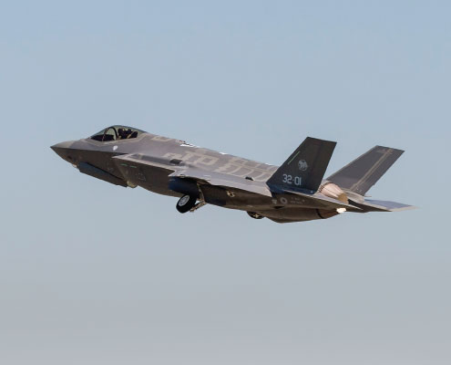 Italy's F-35A Lightning II Flies Inaugural European Flight