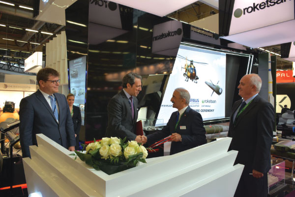 Roketsan and Airbus Helicopters have Signed a MoU for Integration of Cirit Missile to H135 and H145 Helicopters