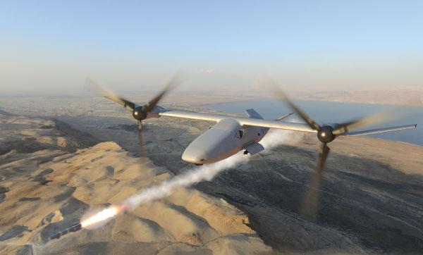 """Bell Helicopter Reveals Bell V-247 """"Vigilant"""" Tiltrotor  UAS in Ship-Borne Configuration"""