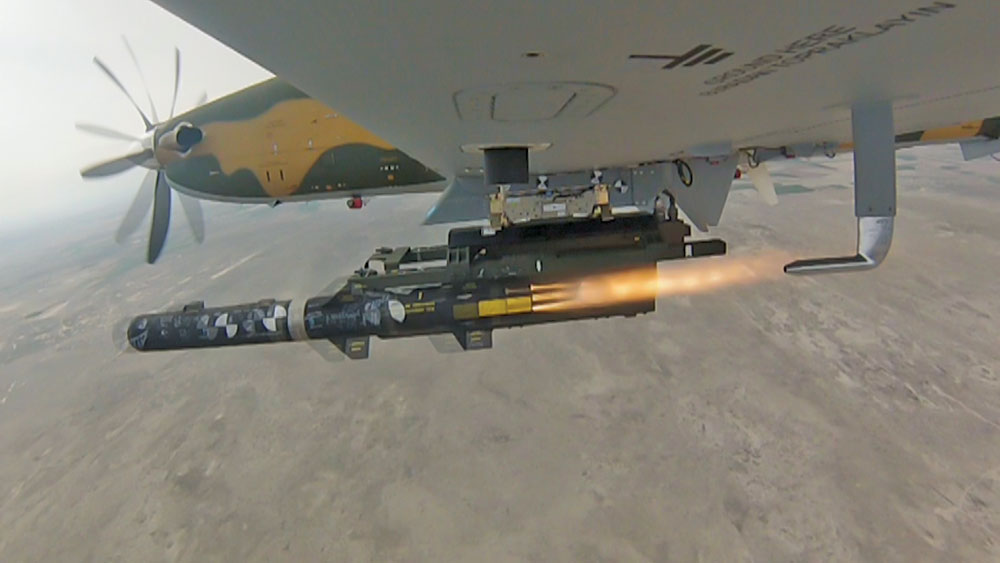 Hürkuş-C Light Attack Aircraft Right on Target with LUMTAS Missile Demonstration