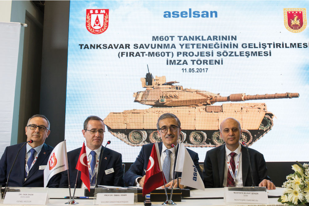 Aselsan and SSM Signed Contract for the Modernization of M60T Tanks