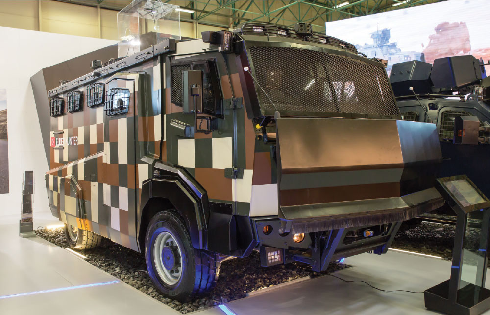 Wired Multi-Rotor UAV System Integrated on Nurol Makina's Armored Vehicles