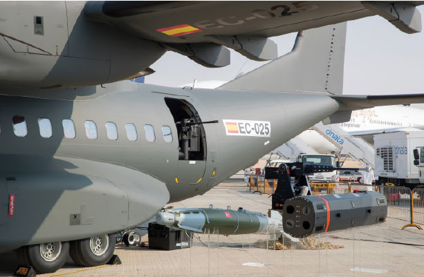 Airbus Displayed a Comprehensive Range of Weapons for Armed C295 at Dubai Air Show
