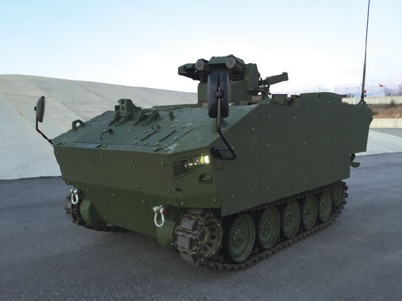 Kaplan and Pars Tracked and Wheeled Type Anti-Tank Vehicle Design Phase Accomplished by FNSS