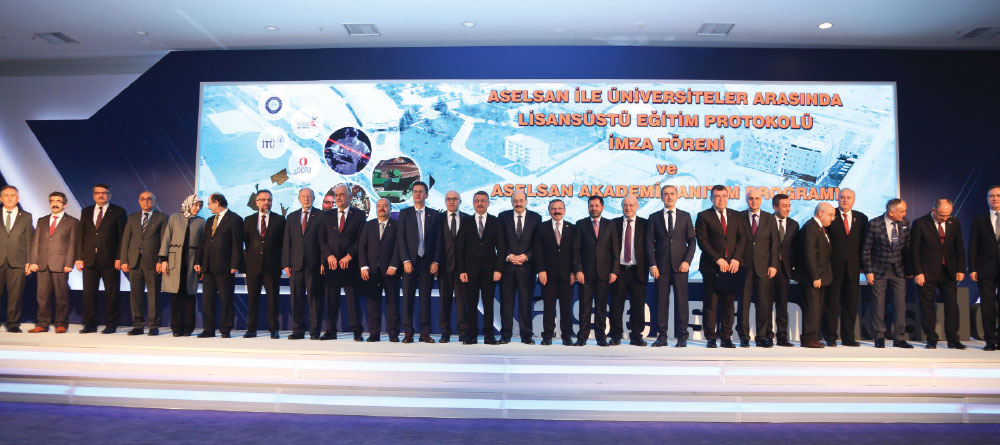 The Launch Ceremony of Aselsan Academy and Universities Postgraduate Training Program Protocol was Held in Ankara