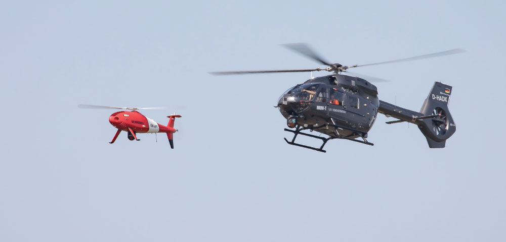 Schiebel And Airbus Helicopters Achieve Historic Manned Unmanned Teaming