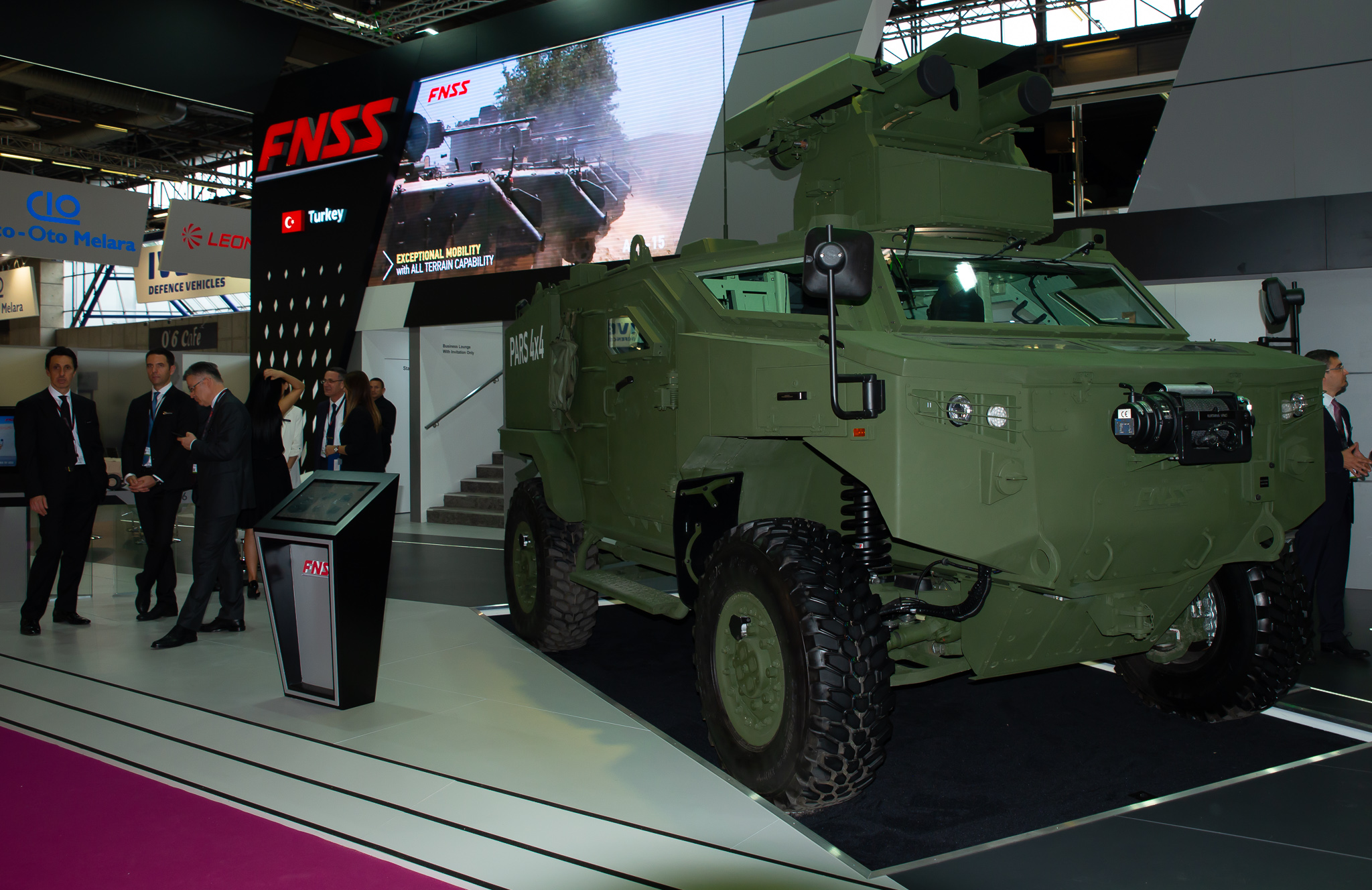 FNSS Launched PARS 4x4 Anti-Tank Vehicle Developed for Anti-Tank Vehicle Project at Eurosatory 2018