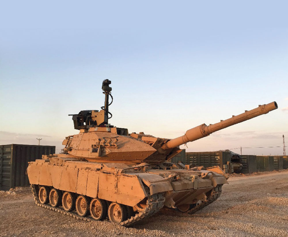 Aselsan Retrofitted M60T Tanks with FIRAT-M60T Project