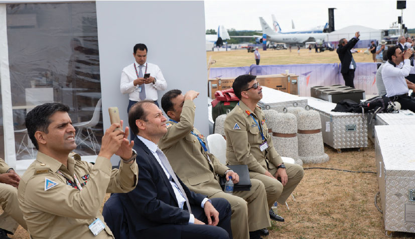Pakistan's Senior Military Delegation Witnessed the T129 ATAK Demonstration Flight at the Farnborough Air Show