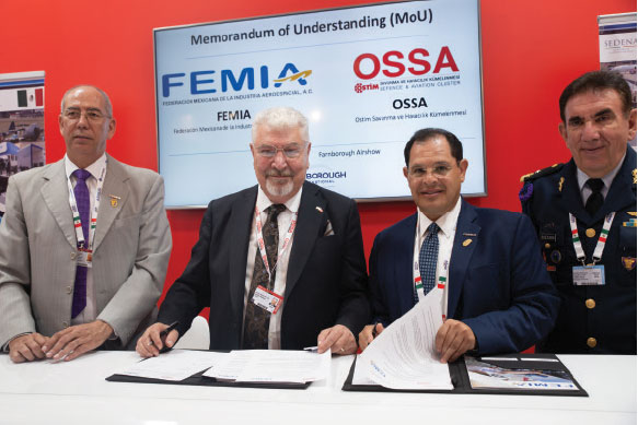Cooperation Agreement Signed Between OSSA Cluster and Mexico FEMIA at Farnborough Air Show