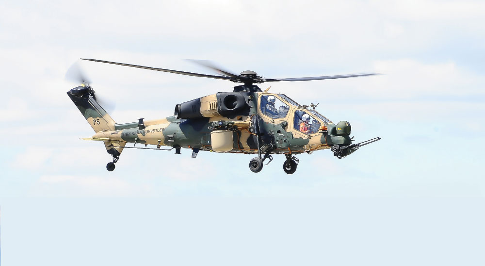 T129 ATAK Multirole Combat Helicopter and MilDaR Fire Control Radar