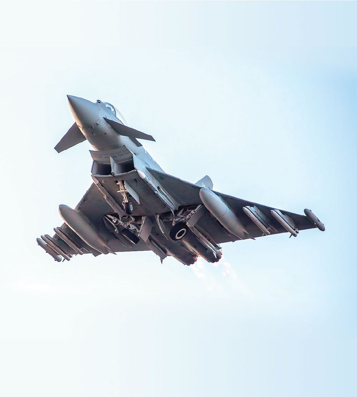 RAF Typhoons Armed with Meteor Air-to-Air Missile