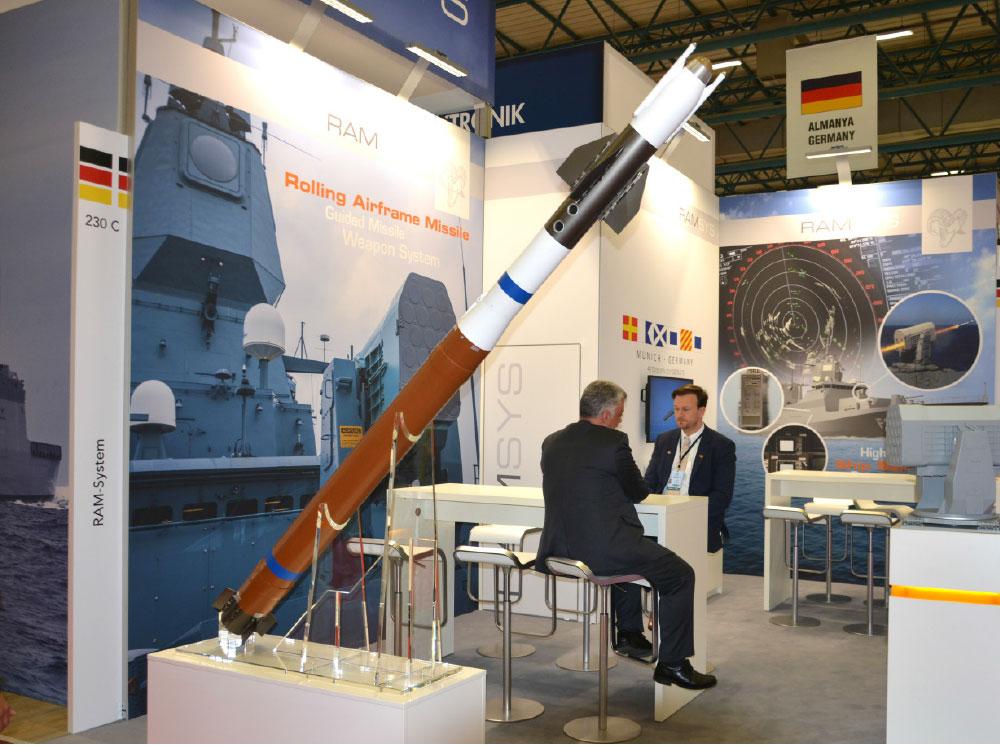 RIM-116 Rolling Airframe Missile (RAM) Ship Self-Defence Weapon System & RIM-116C Block II Missile