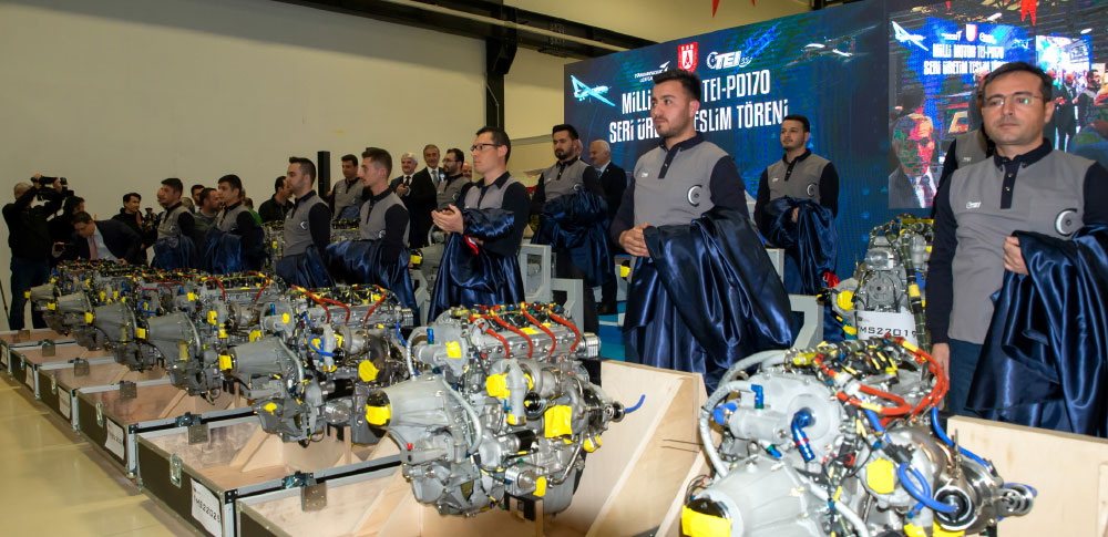 TEI-PD170 Turbo Diesel Aviation Engine Serial Production Delivery Ceremony