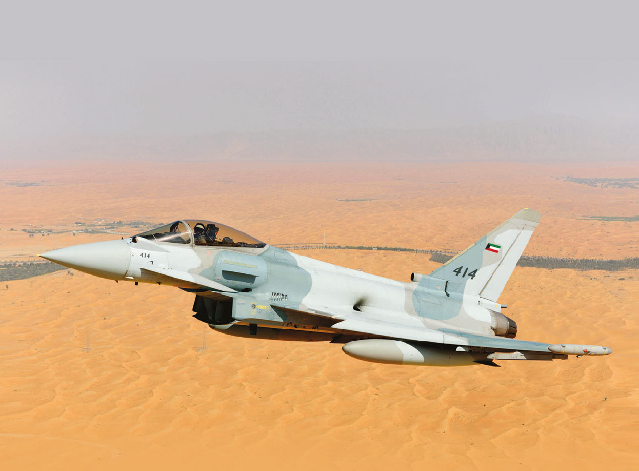 First Flight of Eurofighter in Kuwait Air Force Configuration