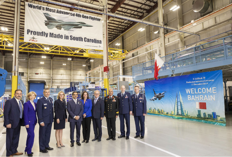 Lockheed Martin Hosts Bahrain Ambassador at F-16 Production Line