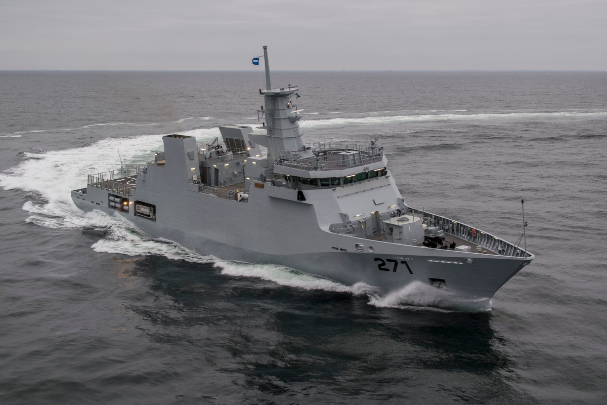 Commissioning ceremony of Offshore Patrol Vessel  PNS YARMOOK