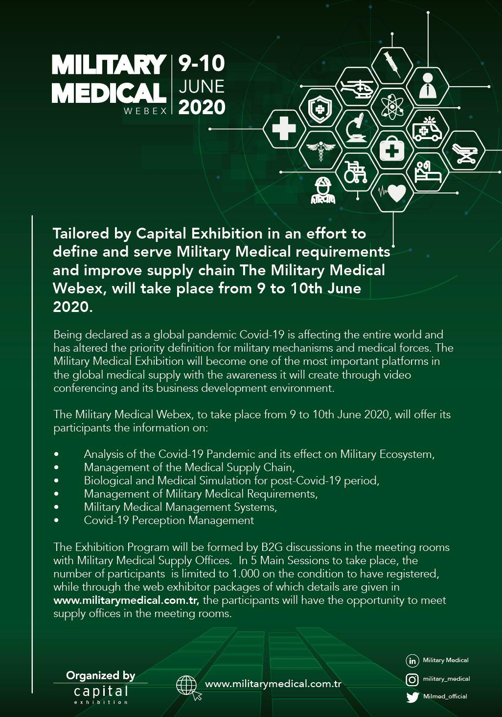 Military Medical Webex will take place on 09-10 June 2020