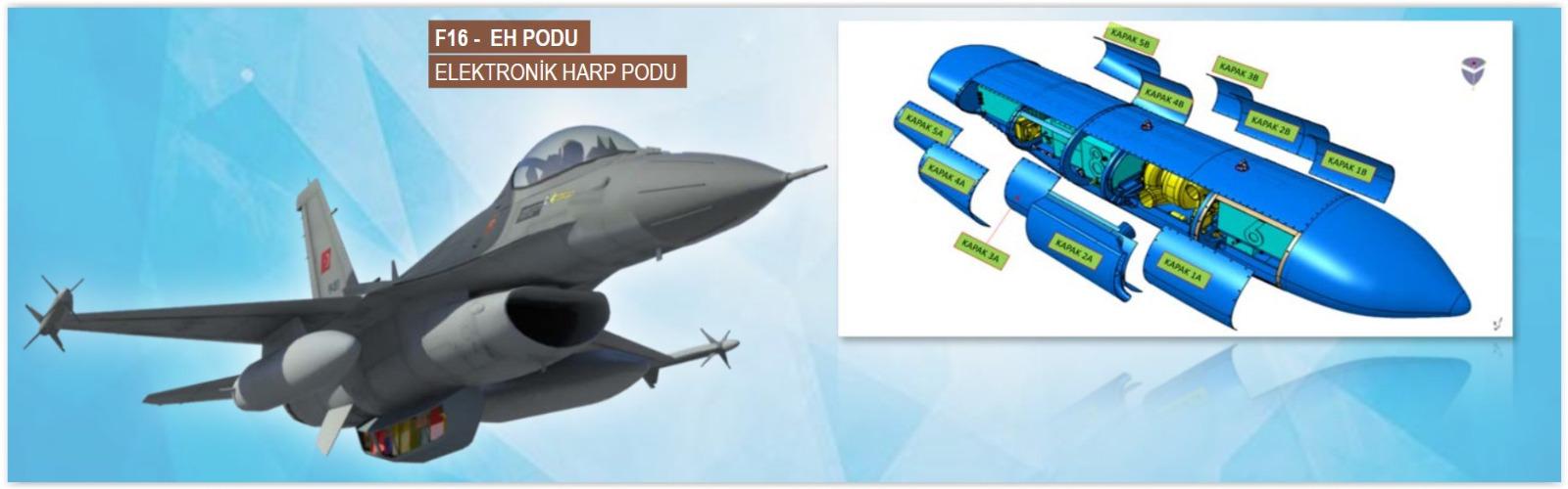 F-16 Uçağı Elektronik Harp Podu (EHPOD) projesinde Kritik Tasarım Safhası Tamamlandı!