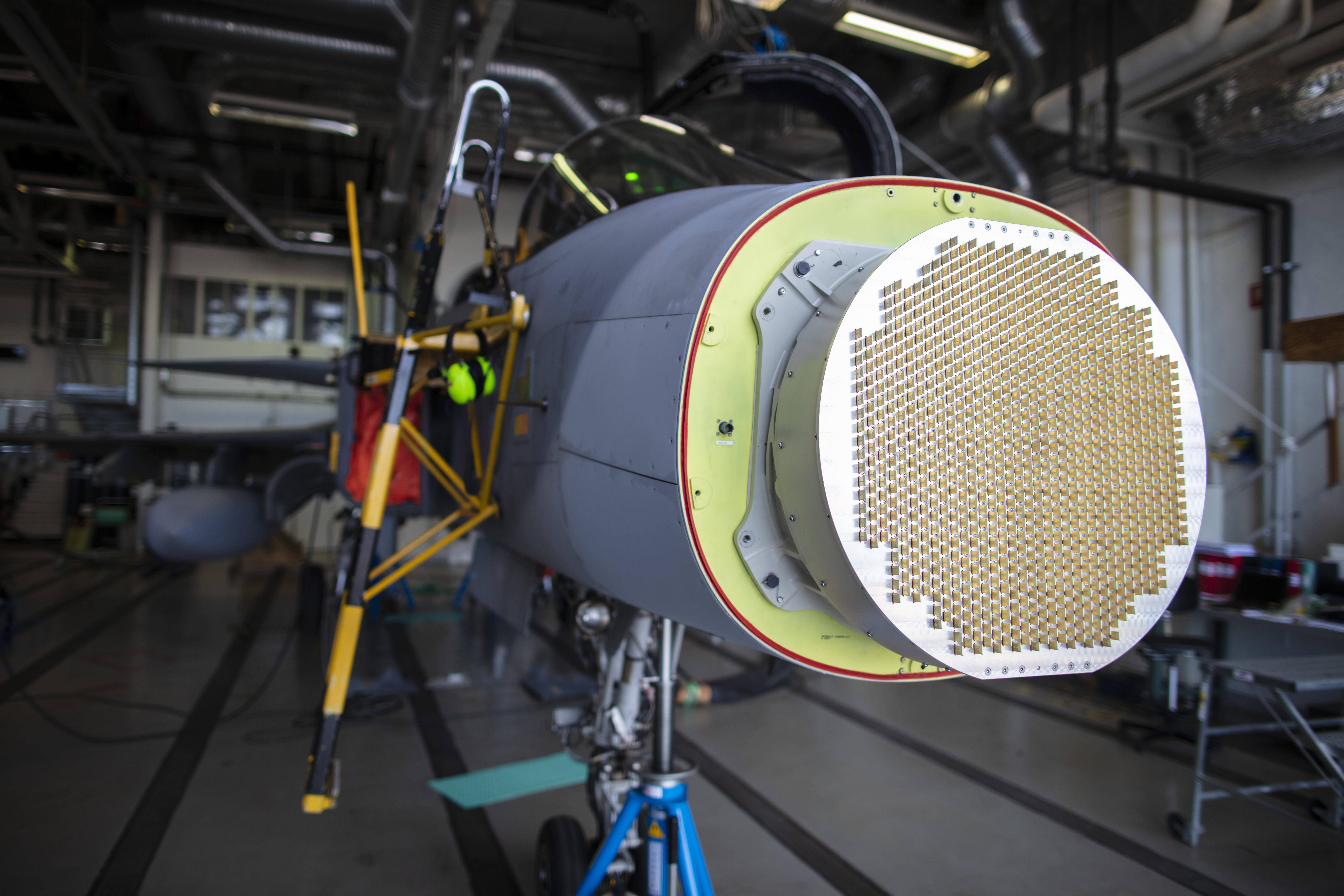 SAAB X-Band AESA Radar in the Air