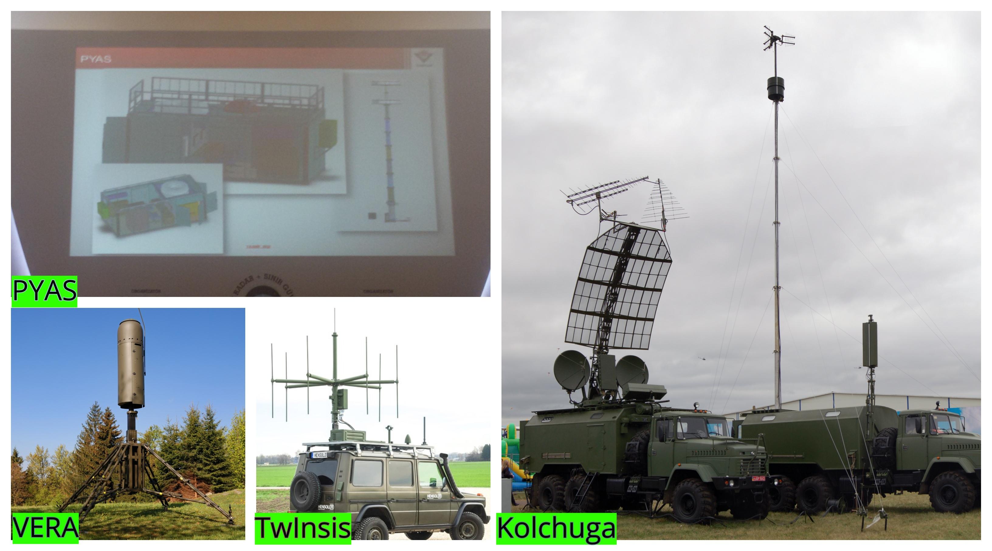 PYAS, PET Tipi Bir Pasif Radar Sistemidir