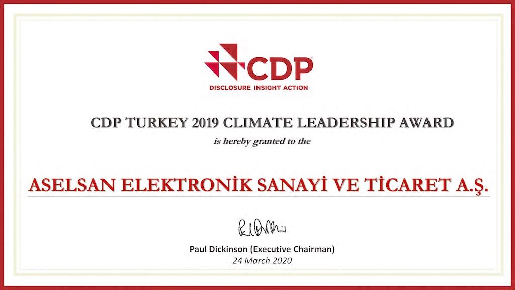 ASELSAN Bir Kez Daha İklim Lideri
