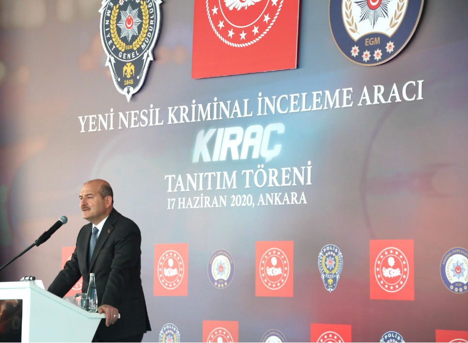 Criminal Investigation Vehicle 'KIRAÇ' Introduced to the Minister of Interior