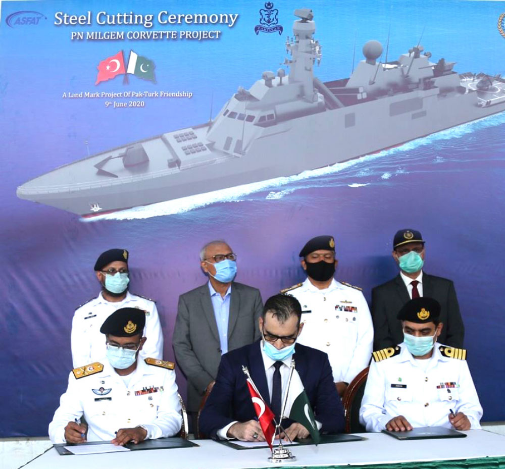 The Steel-Cutting Ceremony for 3rd PN MILGEM