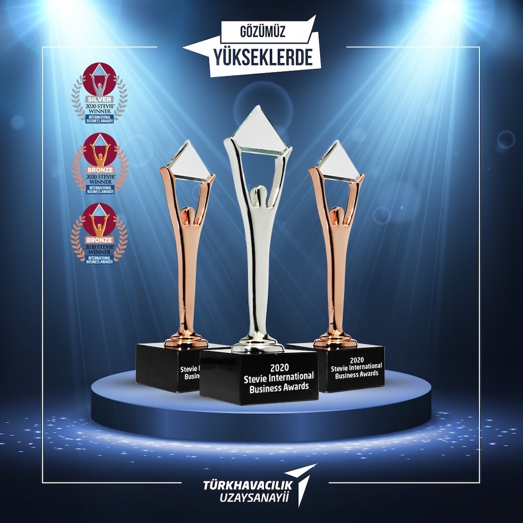 TURKISH AEROSPACE WINS ONE SILVER AND TWO BRONZE STEVIE® AWARD WITH TWO PROJECTS IN 2020 INTERNATIONAL BUSINESS AWARDS®