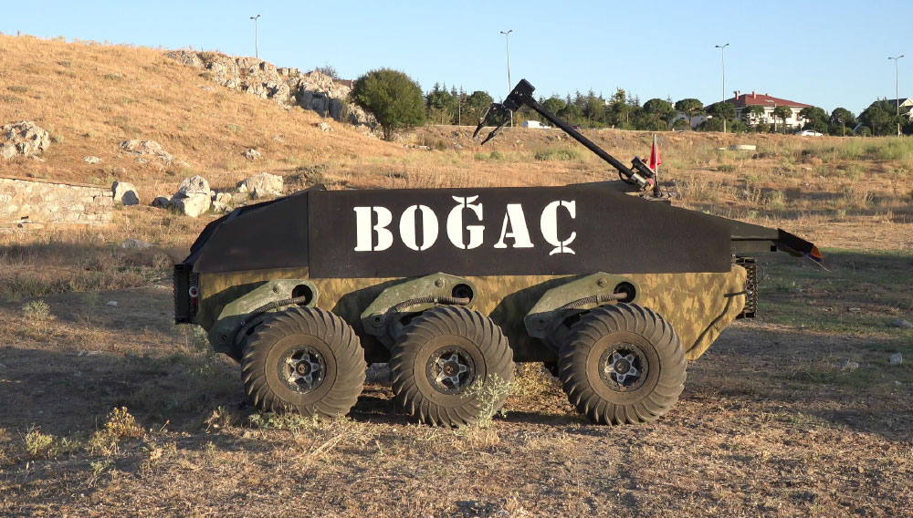 BOĞAÇ 6x6 Unmanned Ground Vehicle (UGV) to Perform Medical Evacuation