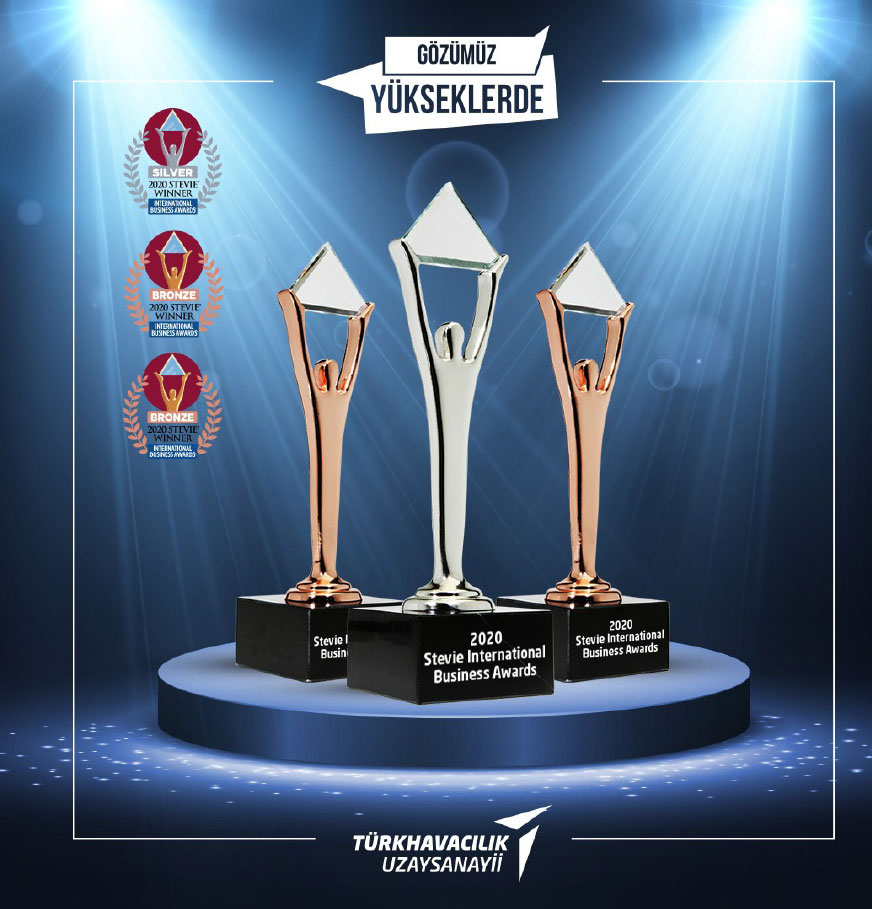 Turkish Aerospace Wins One Silver & Two Bronze Stevie® Awards with Two Projects in the 2020 International Business Awards