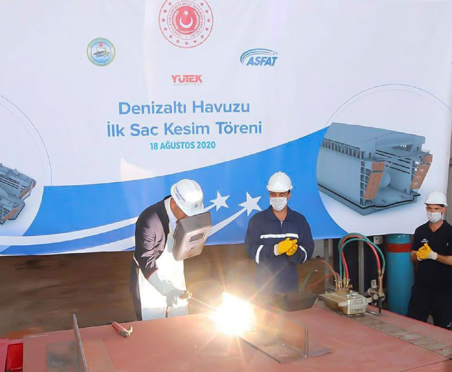 Steel Cutting Ceremony Held for Turkish Lloyd Class Submarine Floating Dock
