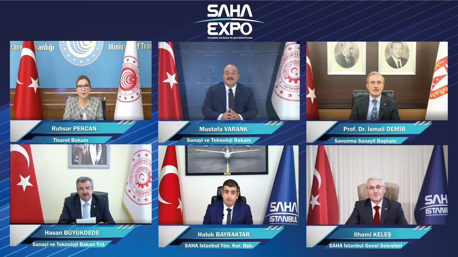 Dünyanın ilk sanal savunma sanayi fuarı  SAHA EXPO açıldı!