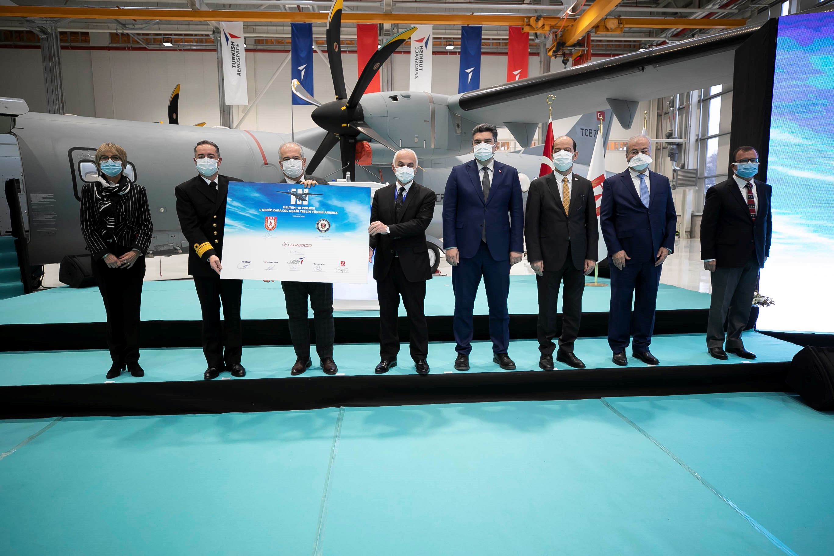 First P-72 Maritime Patrol Aircraft Delivered to the Turkish Naval Forces Under the MELTEM-3 Project