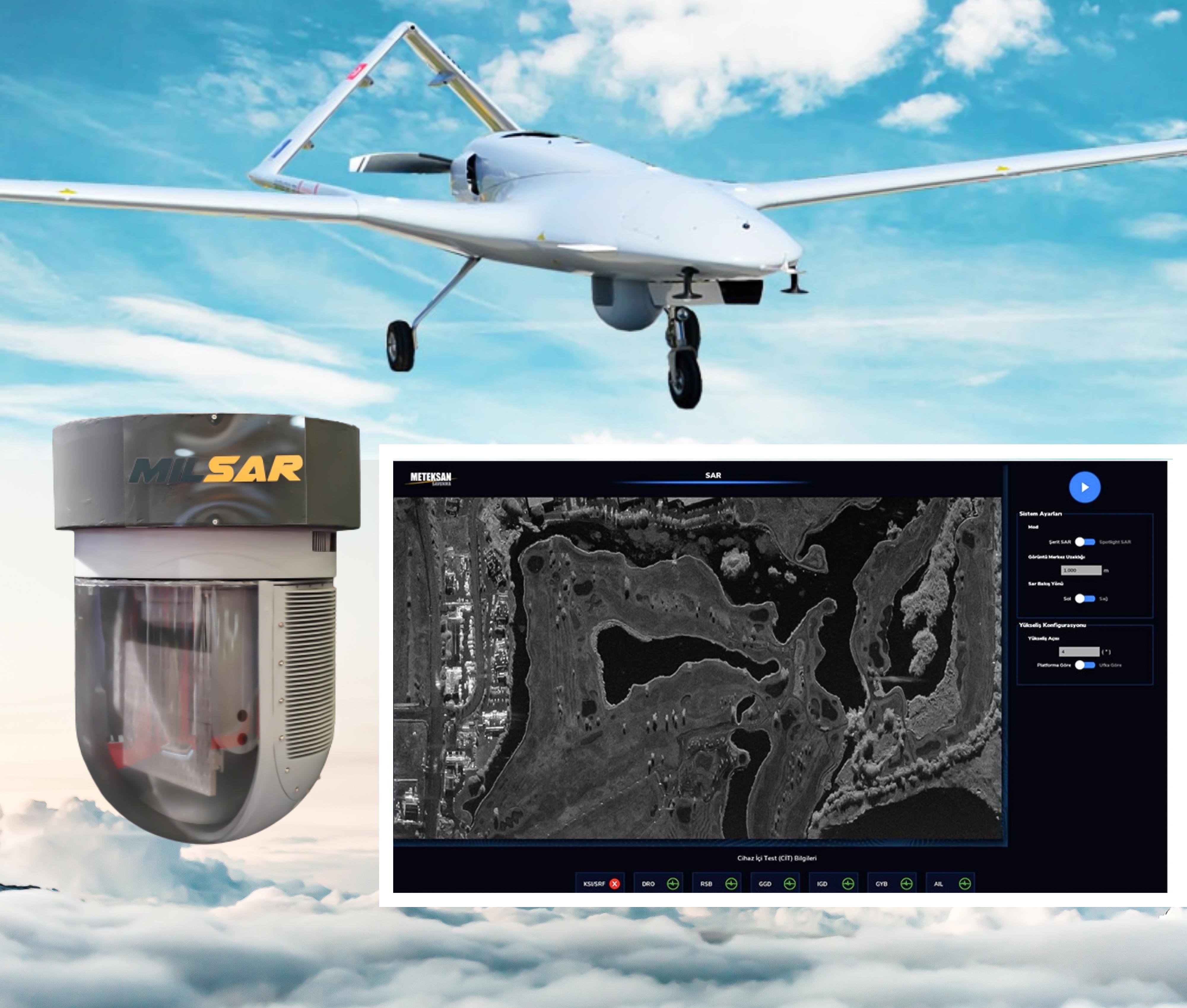 Meteksan Defence MILSAR SAR/GMTI Radar Provides Outstanding Capabilities to Tactical UAVs