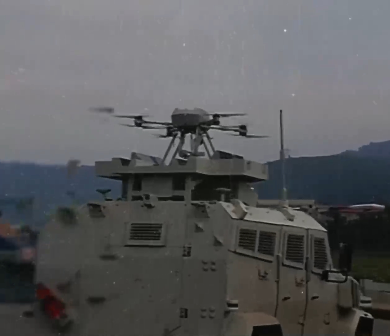 SONGAR Armed Drone System Integrated into an Armored Vehicle for the First Time
