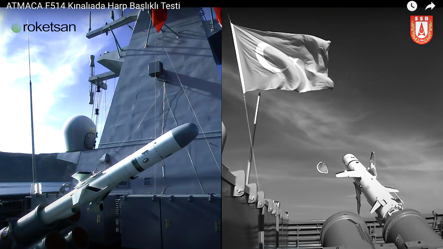 Final Test-Firings of the Indigenous ATMACA Anti-Ship Missile Conducted Successfully