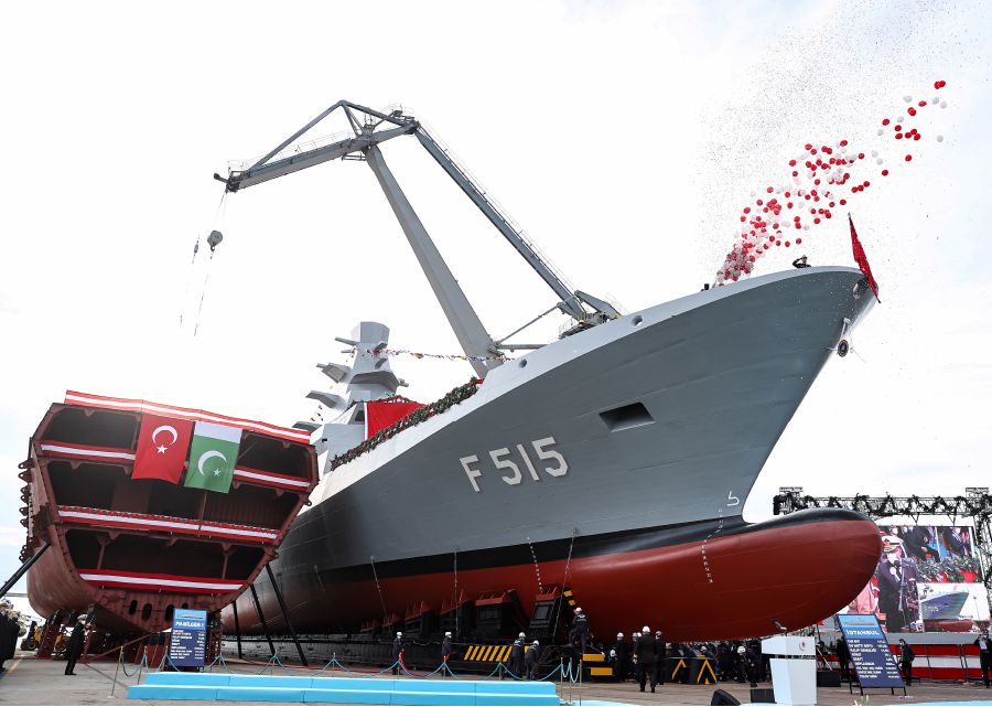 İSTİF Class Frigate Launching and PN MİLGEM 3rd Ship First Welding Ceremony at Istanbul Shipyard